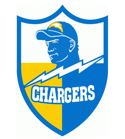 San Diego Chargers Manning Face Logo iron on transfers