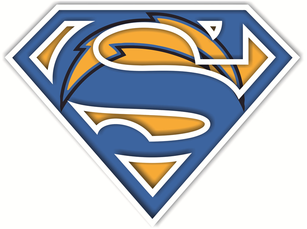 San Diego Chargers superman logos iron on heat transfer