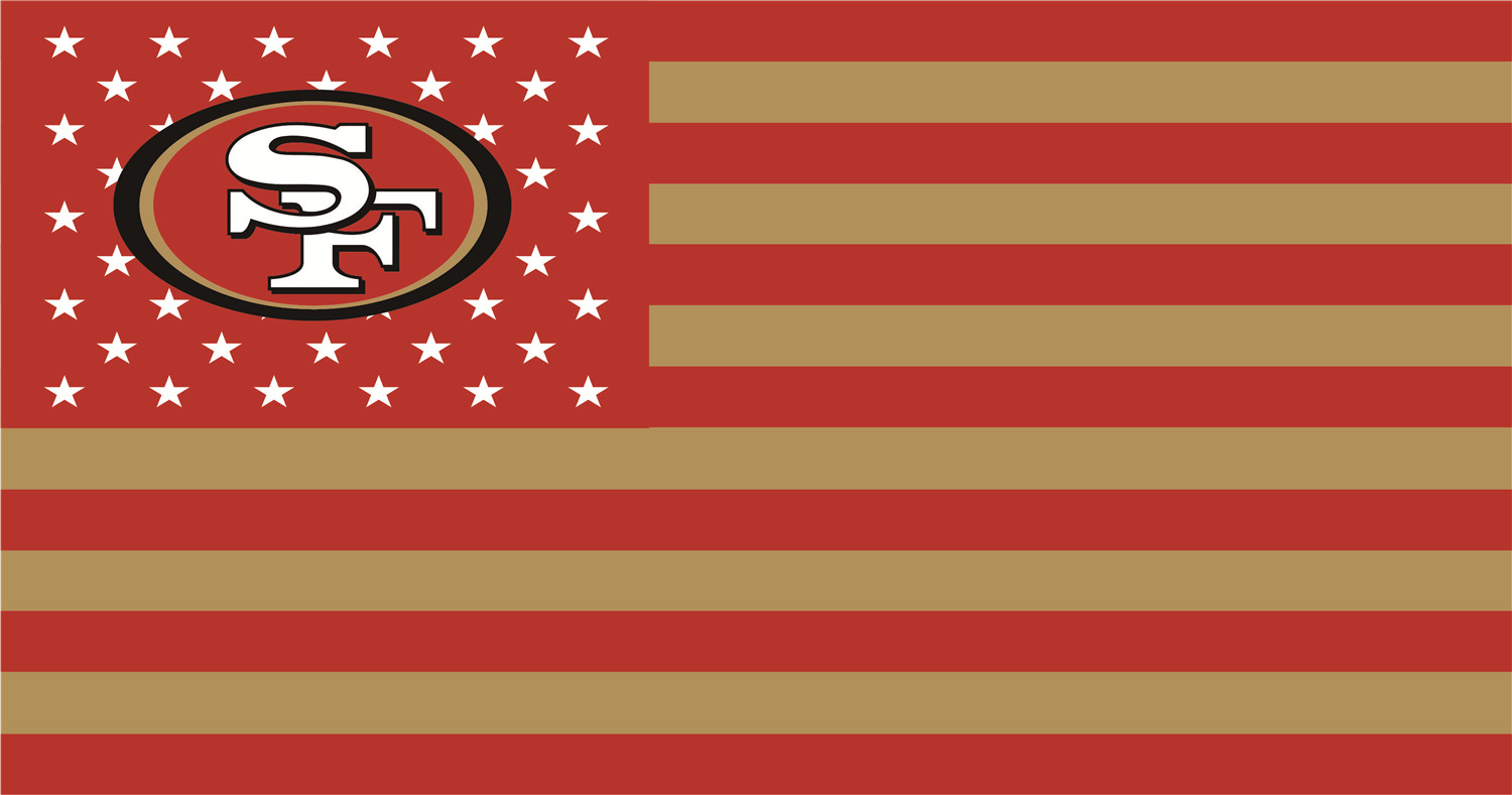 San Francisco 49ers Flags iron on transfers
