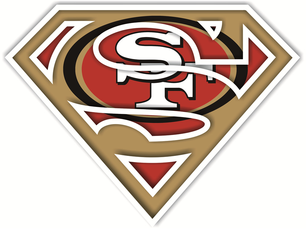 San Francisco 49ers superman logos iron on heat transfer