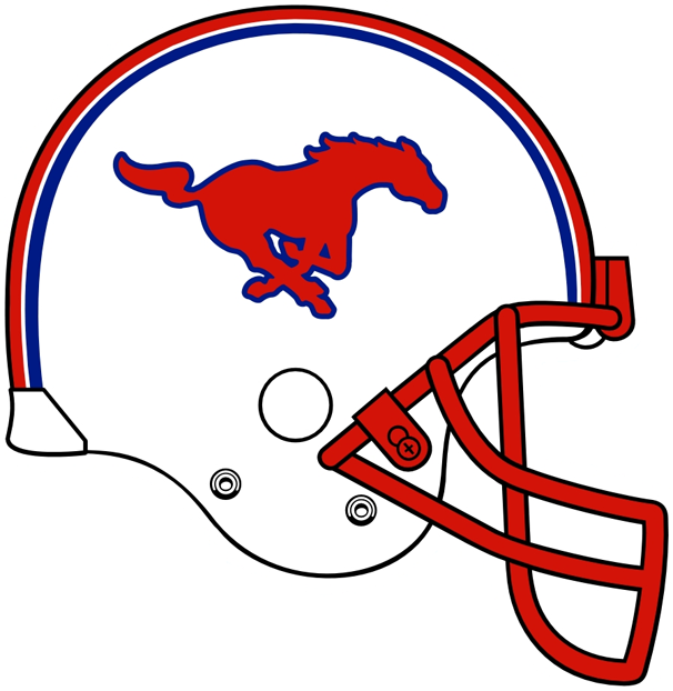 Southern Methodist Mustangs 0-Pres Helmet Logo iron on transfers for clothing