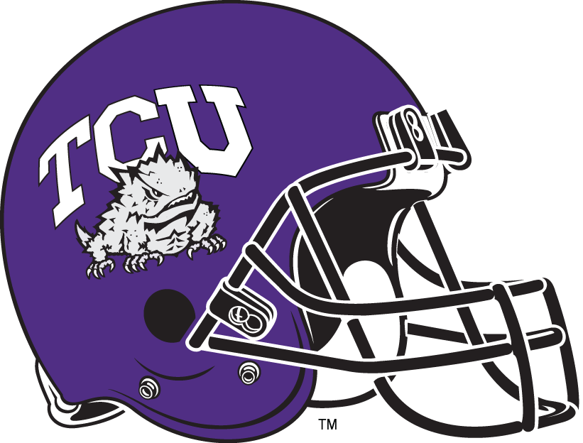 TCU Horned Frogs 1995-Pres Helmet Logo iron on transfers for clothing