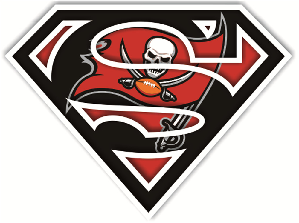 Tampa Bay Buccaneers superman logos iron on heat transfer