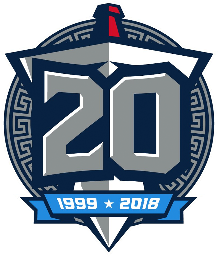 Tennessee Titans 2018 Anniversary Logo iron on transfers for clothing