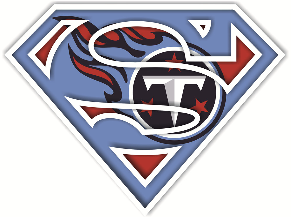 Tennessee Titans superman logos iron on heat transfer
