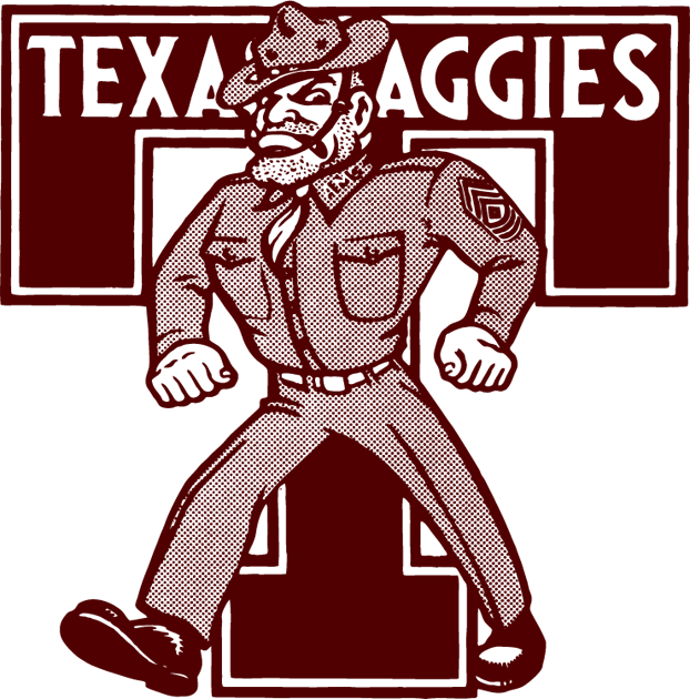 Texas A&M Aggies 1972-1980 Primary Logo iron on transfers for clothing