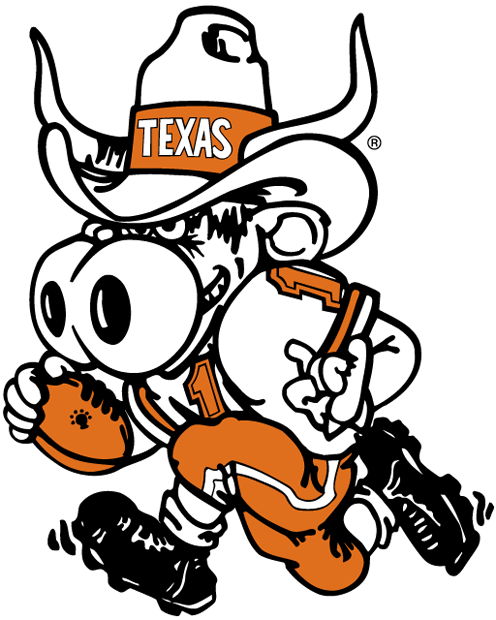 Texas Longhorns 1981-2002 Mascot Logo iron on transfers for clothing