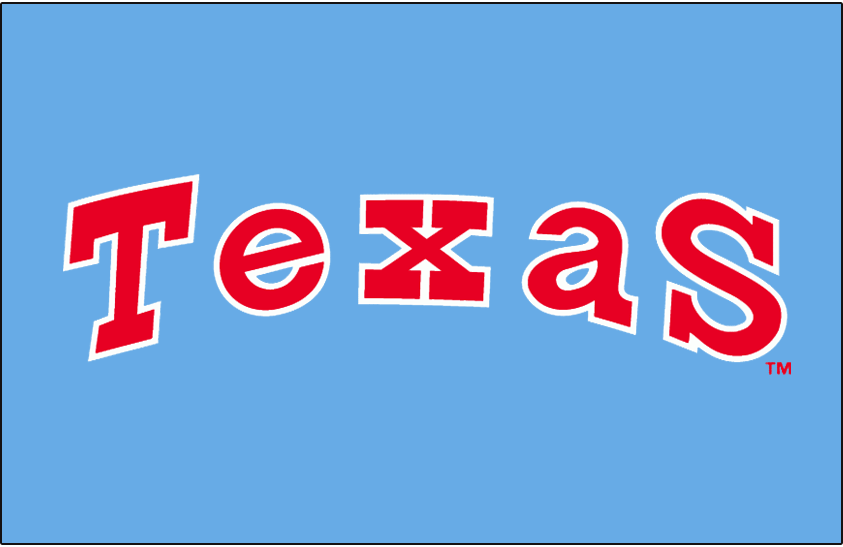 Texas Rangers 1976-1982 Jersey Logo iron on transfers for clothing
