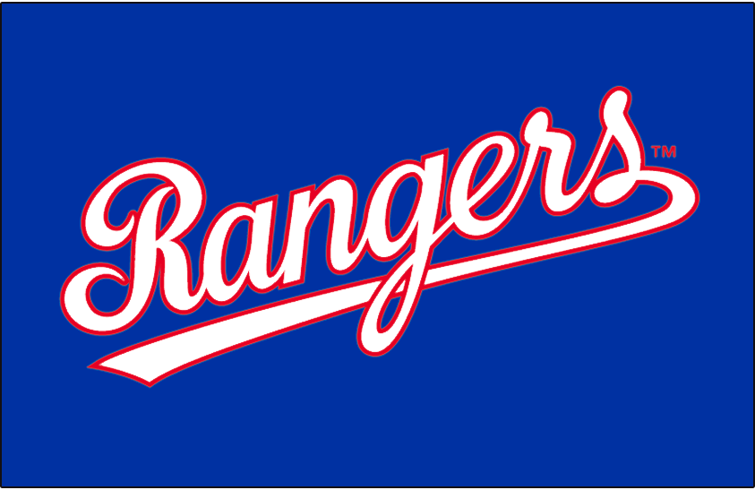 Texas Rangers 1984-1993 Jersey Logo iron on transfers for clothing