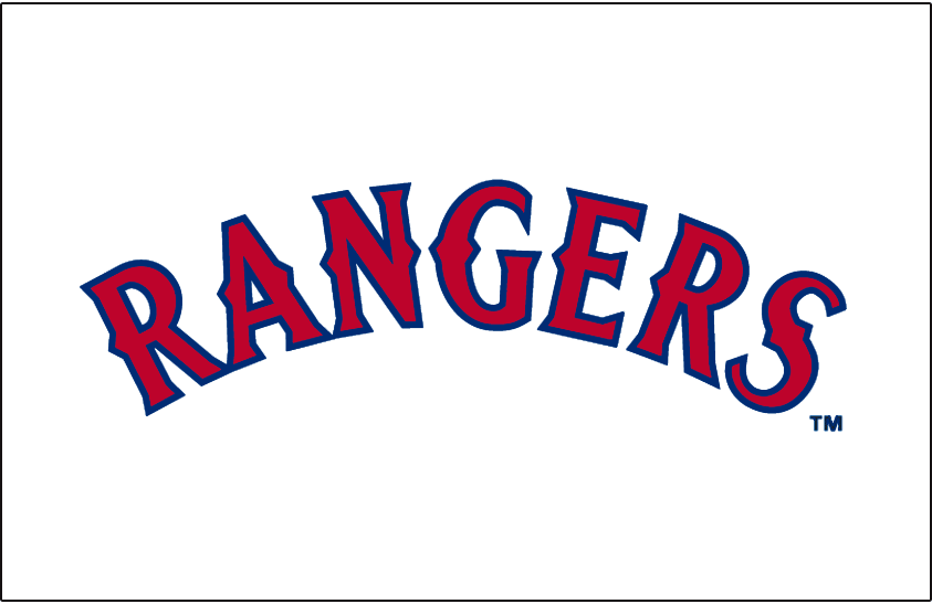 Texas Rangers 1994-2000 Jersey Logo iron on transfers for clothing