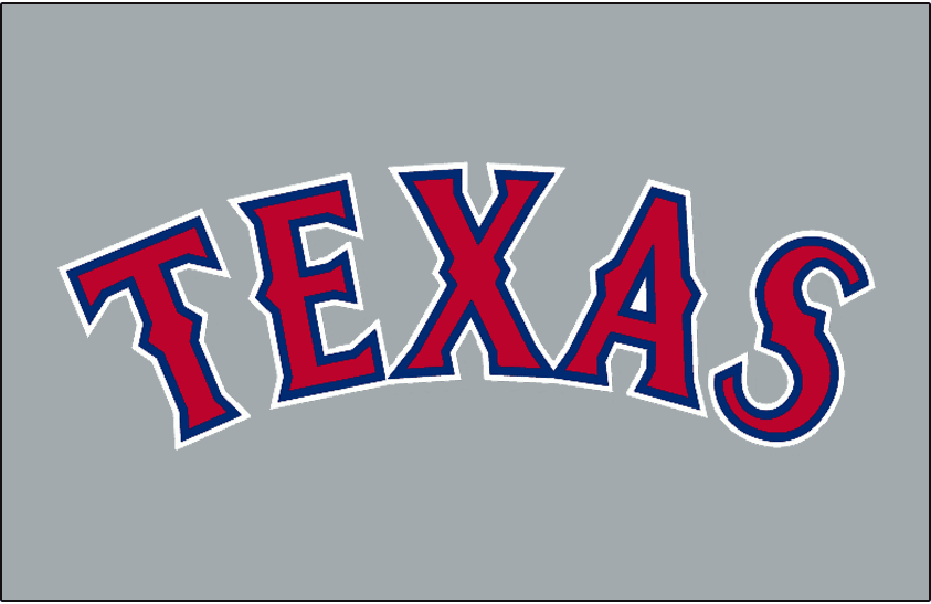Texas Rangers 1995-1999 Jersey Logo iron on transfers for clothing