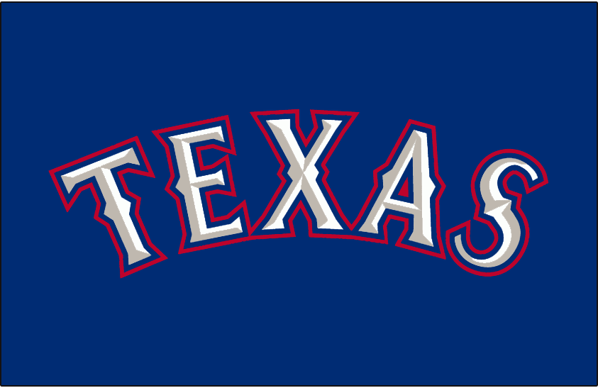 Texas Rangers 2000-2013 Jersey Logo iron on transfers for clothing