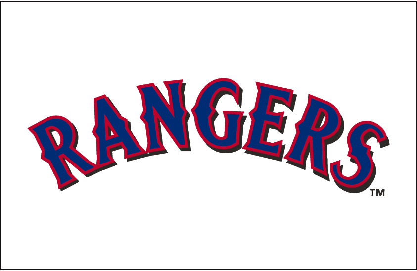 Texas Rangers 2001-2008 Jersey Logo iron on transfers for clothing
