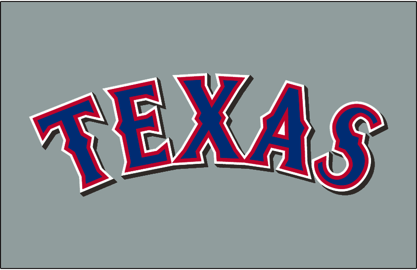 Texas Rangers 2001-2013 Jersey Logo iron on transfers for clothing