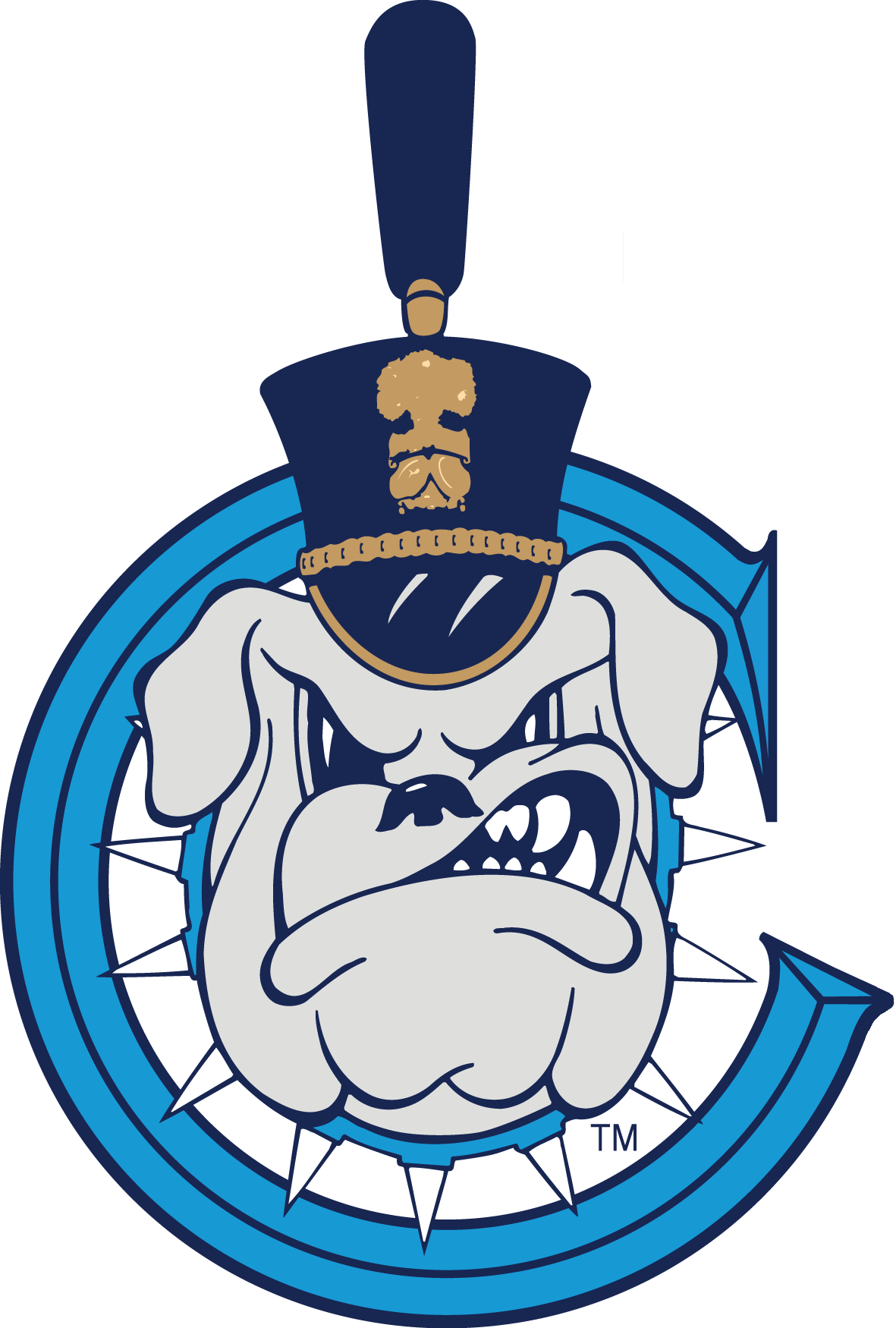 The Citadel Bulldogs 0-Pres Secondary Logo iron on transfers for clothing