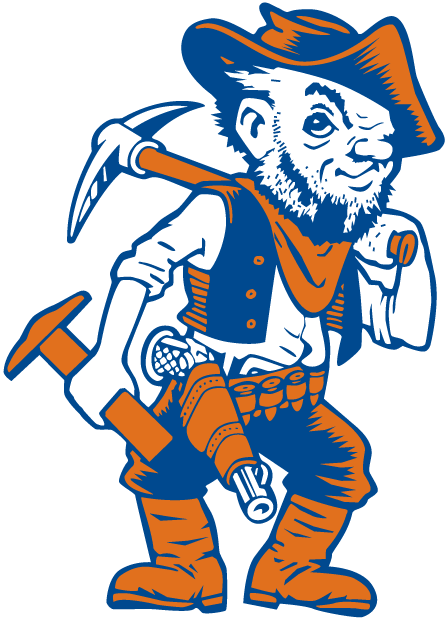 UTEP Miners 0-1991 Mascot Logo iron on transfers for clothing
