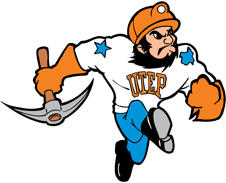 UTEP Miners 1992-2003 Mascot Logo v2 iron on transfers for clothing