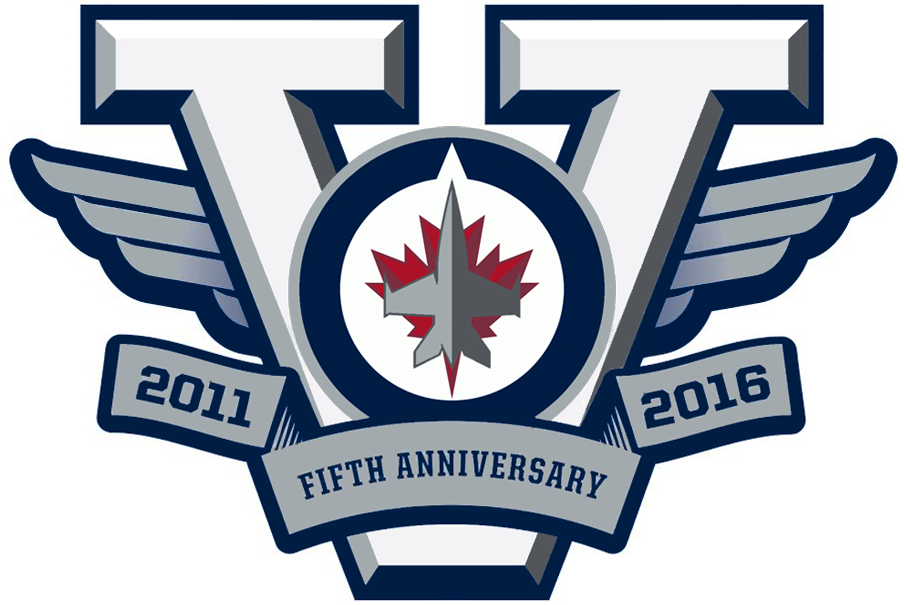 Winnipeg Jets 2016 Anniversary Logo iron on transfers for clothing