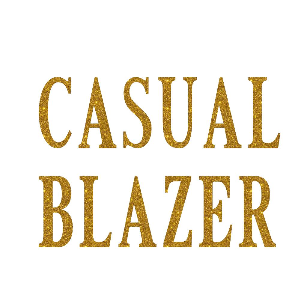 casual blazer glitter iron on transfer