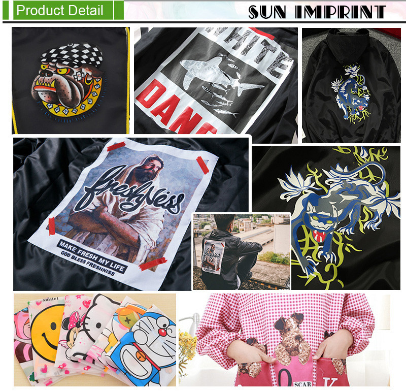 Offset Printing Iron-on Transfer Stickers For Waterproof